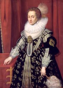 Elizabeth Stuart door Michiel van Mierevelt